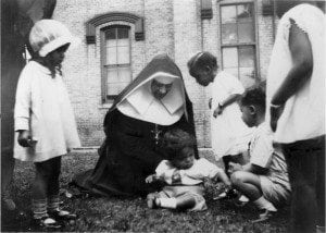 Mother Katharine Vistits Kiddies Day at the Prep in New Orleans