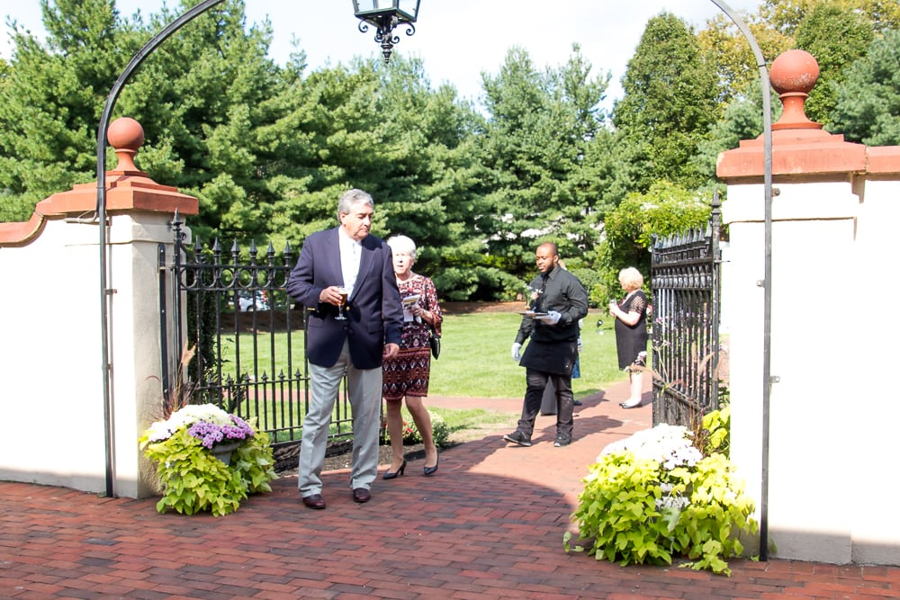 Guests enjoy the beautiful surroundings of the Bella Voir Mansion at the Pen Ryn Estate.