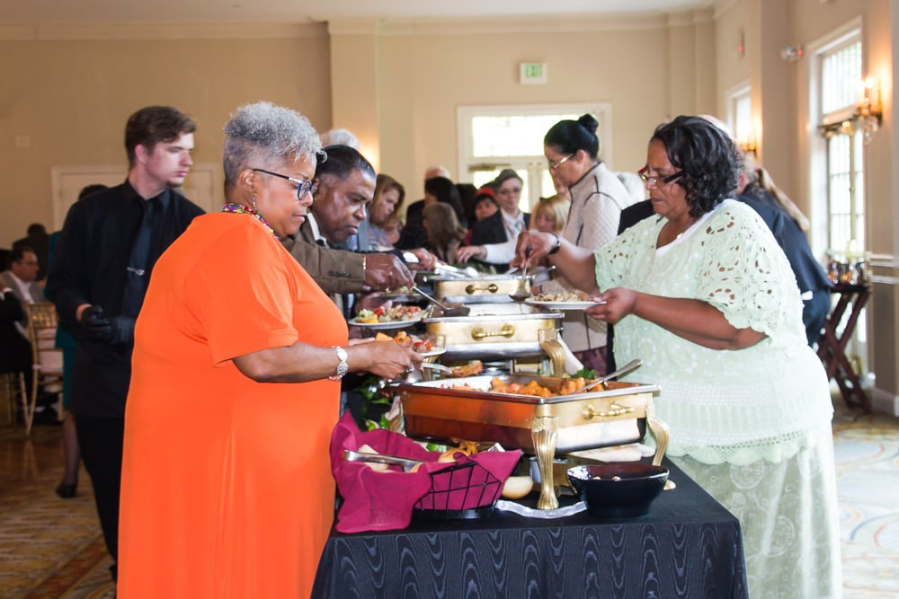 Guests enjoy a wonderfully prepared buffet, included in the ticket price.